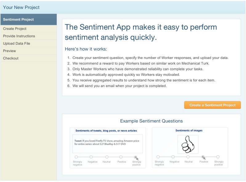Sentiment Analysis on Mechanical Turk