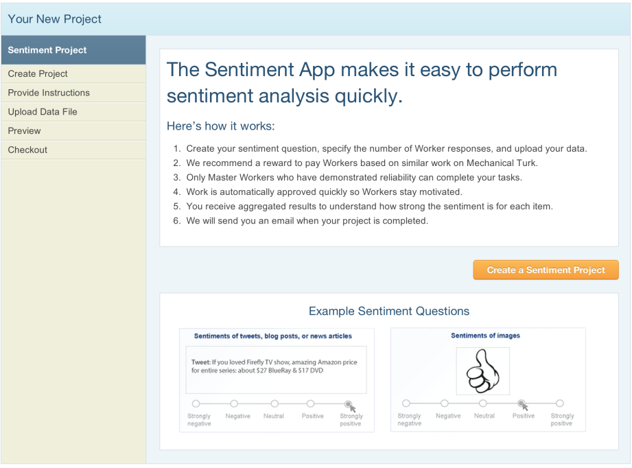 Sentiment Analysis on Mechanical Turk