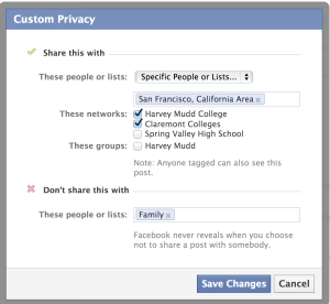 Choosing Wordpress - Facebook Status Update Preferences
